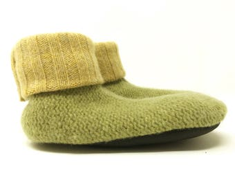 Montessori Kid's Small Lambswool Slipper Sock, Soft Sole Shoe, ToughTek Non-Slip Bottoms, Machine Washable, Ready to Ship, Gender Neutral