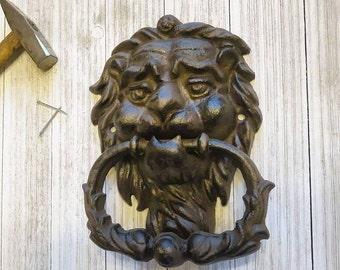 Door Knocker, Cast Iron Door Knocker, Rustic Door Knocker, Housewarming Gift, House Warming Gift, New Home Housewarming Gift,