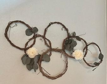 DIY wedding hoops set, grapevine wedding wreaths, dried vine hoop set, diy floral rings, photo prop hoop, hoop wreath, nursery decor