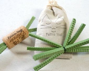 Kitty Yoga Prop Toys, Unique Cat Toys, Catnip Toy, Cat Toy Gift Set, Catnip Bag, Winecork Toy, Yoga Material Cat Toy