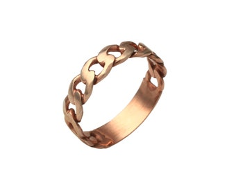 Silver Plate Chain Ring