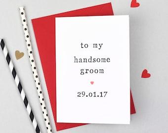 Beautiful Bride Or Handsome Groom Wedding Day Card - Bride Wedding Day Card - Groom Wedding Day Card - To my Bride Card - To My Groom Card