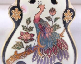 Monet Gold Tone Cloisonné Enamel Necklace Vintage Fashion Jewelry