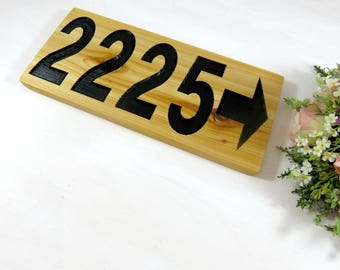 House Number Placard - Address Plaque - Address Marker - House Number Sign - House Sign - House Warming - Cedar Signs - Gift - Outdoor Sign