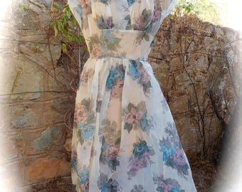 1950's vintage floral dress