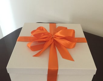 White Deluxe Gift Boxes With Lids 12 x 12  x 6 ( Lot Of 5 Boxes )