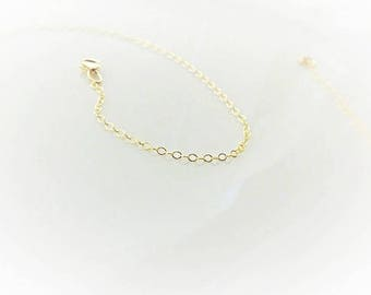 Gold Chain Necklace - Simple Gold Necklace - 14k Gold Filled Chain Necklace - Thin Gold Chain - Plain Gold Necklace - Dainty 1.4mm Chain