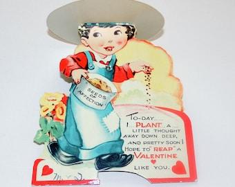 1930s Moving Hat Brim Valentine