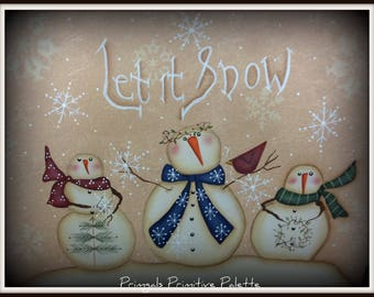 Snowman 11 x 14 Gallery Wrapped Wall Canvas-Holiday Home Decor