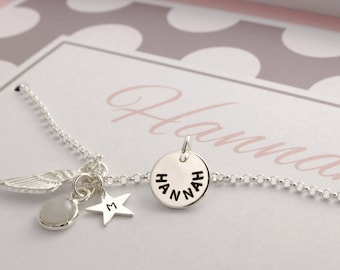 NAME jewellery engraving, gift box, name necklace, 925 Silver
