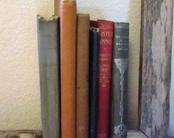 6 Vintage Hardback Books, Smaller in size, decoration, repurpose, 1899-1931