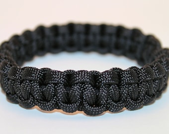 Plain Single Color BANGLE 550 Paracord Survival Strap Bracelet