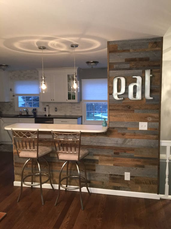 reclaimed wood accent wall do it yourself diy authentic. Black Bedroom Furniture Sets. Home Design Ideas