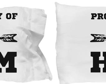 Couple Pillowcases, Romantic Matching Gift Set, Property Of , For Boyfriend Girlfriend Husband Wife, Couples Fiancee Dating Engagement