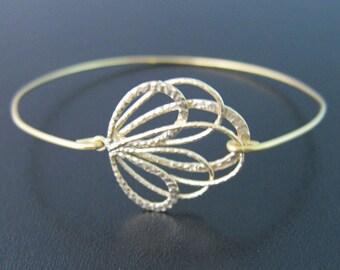 Gold Peacock Feather Bangle Bracelet, Peacock Bracelet, Bridal Jewelry, Gold Bridal Bracelet, Bridesmaid Gift, Peacock Feather Jewelry