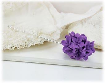 Lilac Brooch Stick Pin - Lilac Jewelry