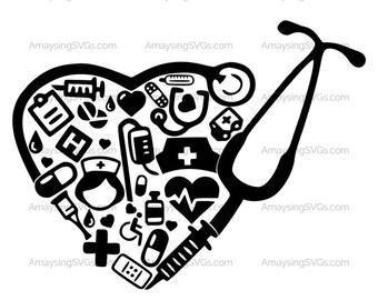 Nurses are the Heartbeat of Medicine svg Nurse svg RN svg LPN