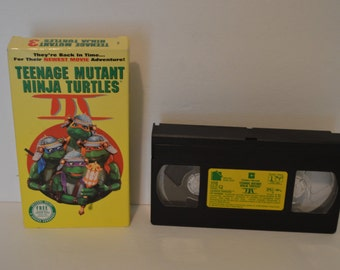Teenage Mutant Ninja Turtles III VHS