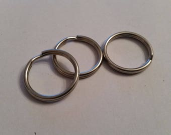 Silver metal Keychain ring