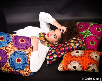 Ankara African Pillows Covers, Ankara pillows covers, African fabric pillows, Print Pillows