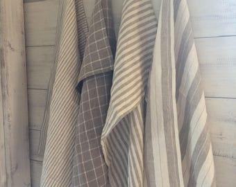 Fine Linen Towels - European Linen - 4 Designs to choose from -Farmhouse Fresh - Lovely !