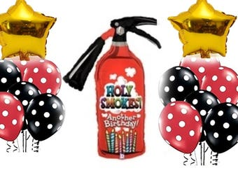 15 Pcs Fire Extinguisher Balloon Set/ Firefigther Party/Birthday Party/Party Decorations