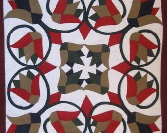Pillow applique art, Egyptian, Handmade (18/15)