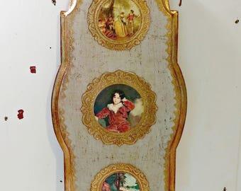 Vintage Italian Florentine Wall Hanging