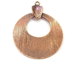 Copper Pendant Antique Copper Pendant Antique Copper Plated Metal (64x48mm) G11812