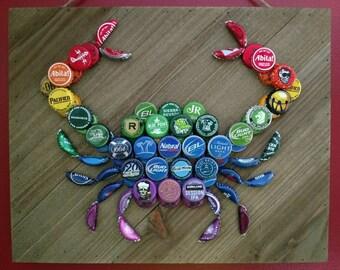 Rainbow Beer Bottle Cap Crab