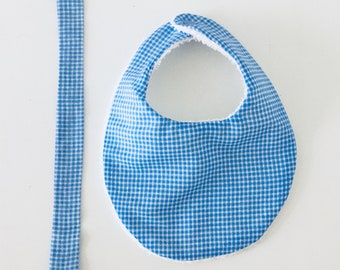 Matching bib and pacifier clip