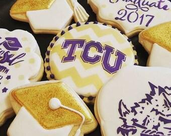 TCU Decorated Sugar Cookies