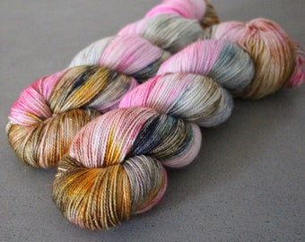 "Magpie - ""Grand Budapest"" - Gold Stellina Sock Yarn"