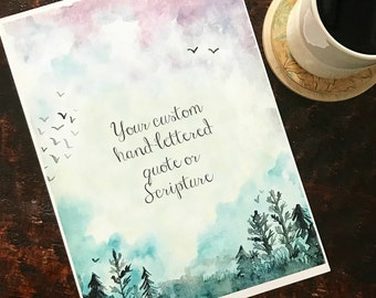 Your Custom Quote on Dusty Silhouetted background