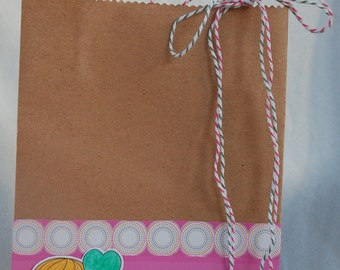 Heart Balloon Luka Gift Bag Handmade