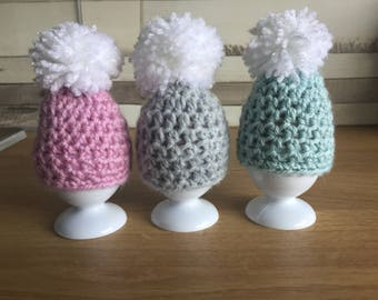 Three Crochet Egg Cosies