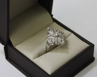 Vintage Platinum diamond ring  size 7 , 0.55 ct , 4.2 gr
