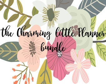 the Charming little Planner BUNDLE! INSTANT DOWNLOAD, daily planner, meal planner, important contacts