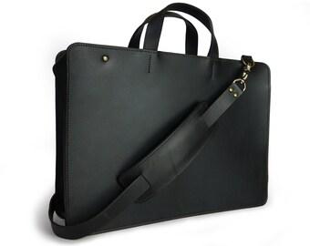 "15"" Minimal zipped laptop briefcase"