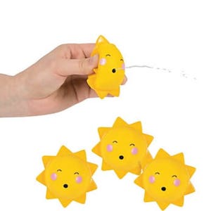 Sunshine party favors (4) /cupcake toppers, party supplies , You. Are my sunshine, sunshine, Squirts
