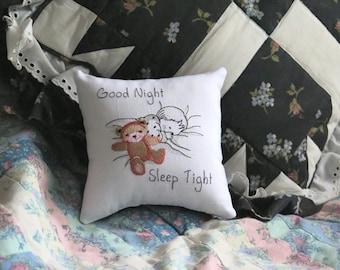 Good Night Sleep Tight Tuck Pillow