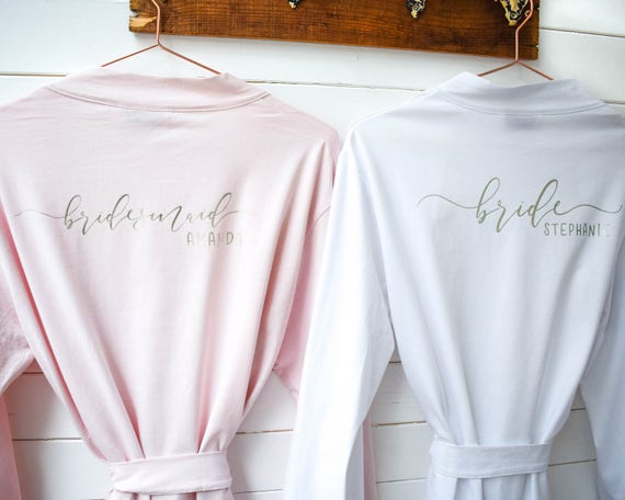 Personalised Wedding Robes Bridal Dressing Gowns Hen Party