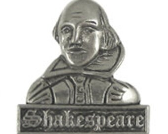 Shakespeare Lapel Pin- CC493- William Shakespeare, Famous Playwright, Poet, Actor, Literacy, and English Teacher Pins