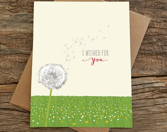 anniversary card / dandelion wished for you