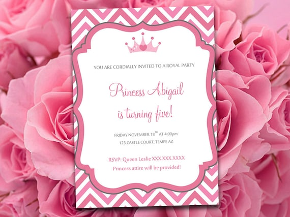 Birthday Party Invitation Template Princess Party Invitation - Party invitation template: princess party invitation template