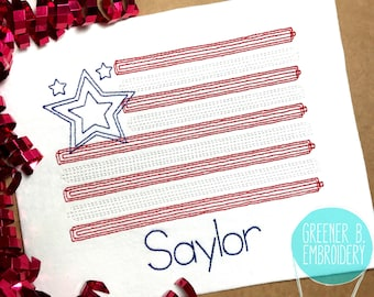 Fourth of July Shirt / 4th of July Flag / American Flag Shirt / Personalized 4th of July Shirt / Baby 1st 4th of July / Patriotic Shirt