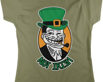 Not Irish, St. Patrick's Day, Leprechaun Women's T-shirt, NOFO_00105