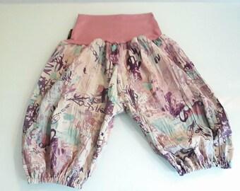 Short harem pants size unique old pink crinkle effect