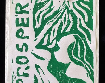 Prosper, limited edition linocut print