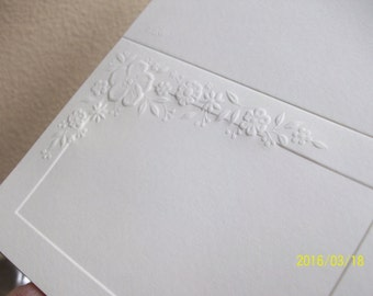 Wedding Thank You Cards and Matching Envelopes Embossed Blanks| Eighty Five 85 Thank You cards For Wedding or Shower